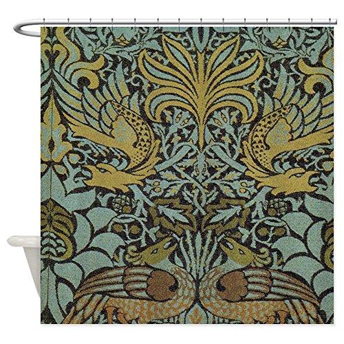 CafePress Morris Peacock And Dragon Design Decorative Fabric Shower Curtain (69