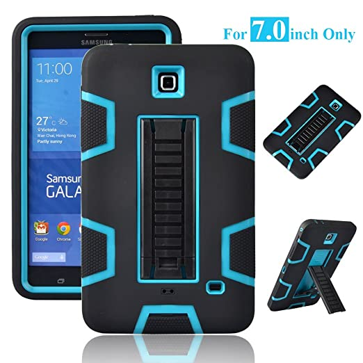 "Galaxy Tab 4 7.0"" Case, Magicsky 3in1 Heavy Duty Hybrid Shockproof Armor Kickstand Case For Samsung Galaxy Tab 4 7.0 Inch T230 /T231/ T235 Galaxy Tab 4 Nook Cover   Blue/Black by Magic Sky"