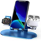 3 in 1 Aluminum Charging Station for Apple Watch Charger Stand Dock for iWatch Series SE/6/5/4/3/2/1, iPad, AirPods Pro/2/1 a