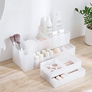 Poeland Multifunction Storage Organizer Trays Box Container for Desk, Drawer, Home