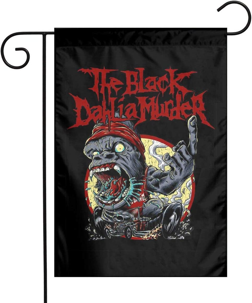 RobinEllis The Black Dahlia Murder Garden Flag Yard Home Outdoor Indoor Flags Decoration Banner 12 X 18 Inch