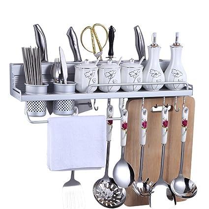 MyLifeUNIT - Porta utensili da cucina, organizer in alluminio, con ...
