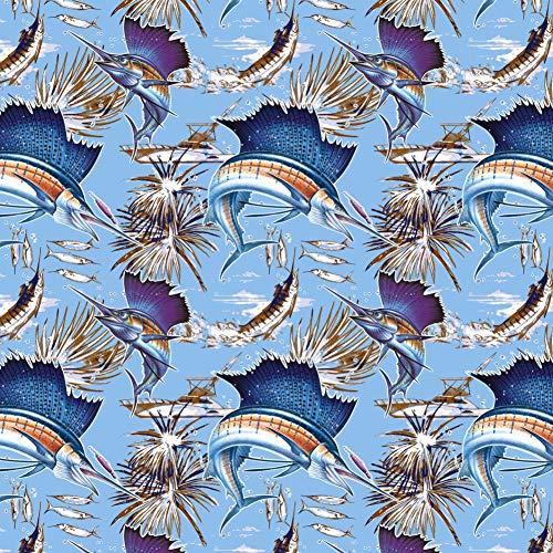 Sailfish Marlin Deep Sea Sport Fishing Premium Roll Gift Wrap Wrapping Paper ()