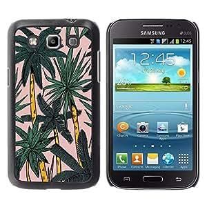 Be Good Phone Accessory // Dura Cáscara cubierta Protectora Caso Carcasa Funda de Protección para Samsung Galaxy Win I8550 I8552 Grand Quattro // Palm Tree Miami Watercolor Palms Tro