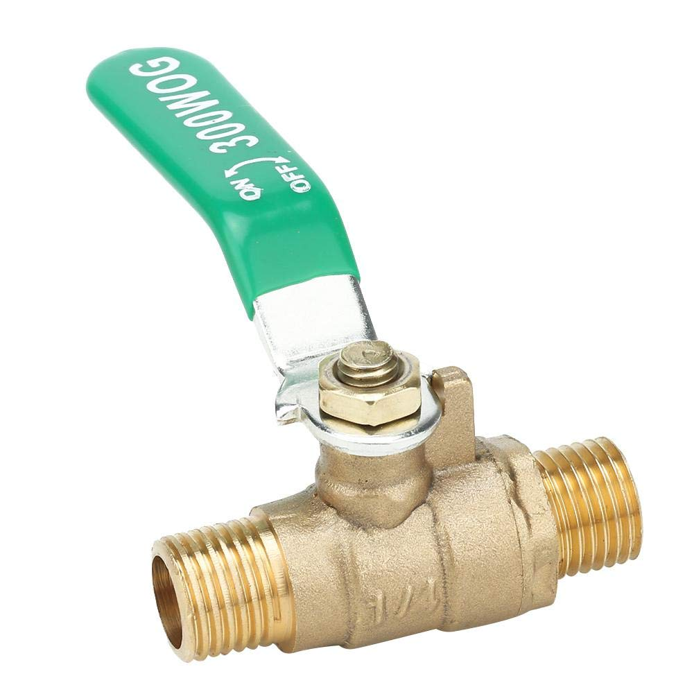 Male to Male Thread Ball Valve Closure for Irrigation System Applicable air G1//4 Water Two Way Ball Valve Closure Switch Brass Tube Ball Valve