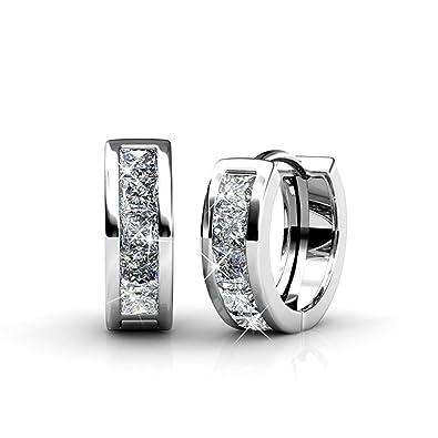d28866512 Women Earrings with Swarovski Crystals - Earrings Set from Yolora (White  Gold): Amazon.co.uk: Jewellery