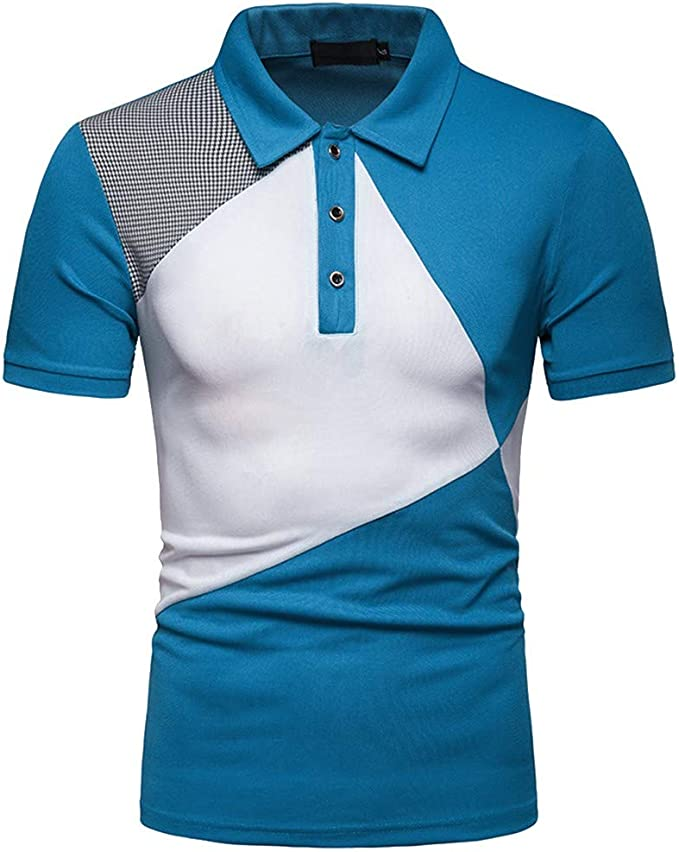 waotier Camiseta De Manga Corta para Hombre Camiseta De Solapa De ...