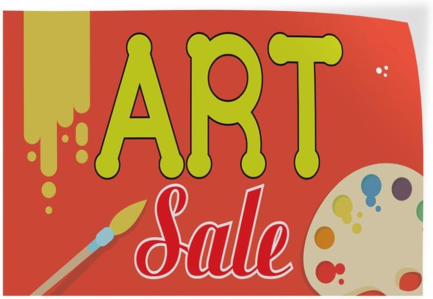 Set of 2 Decal Sticker Multiple Sizes Art Sale #2 Business Art Sale Outdoor Store Sign Orange 52inx34in