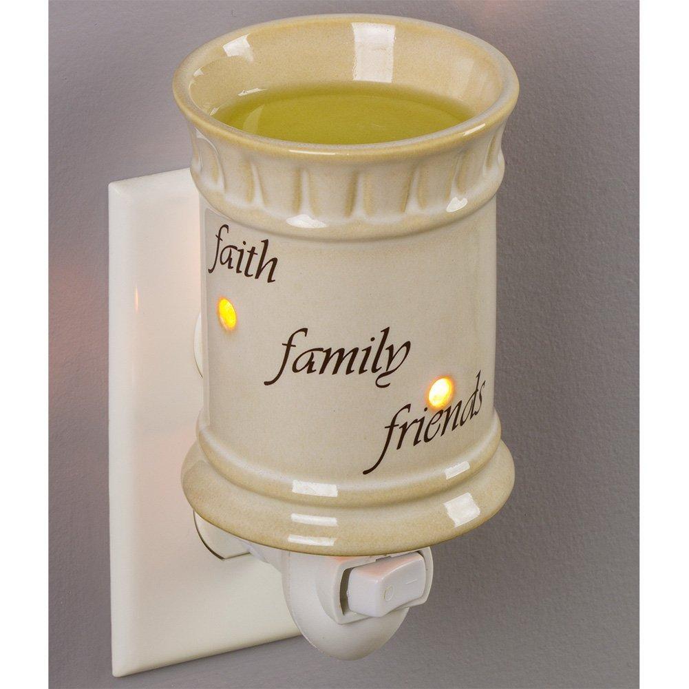プラグイン フレグランスワックスメルトウォーマー B06ZYBH9K4 Faith Family Friends