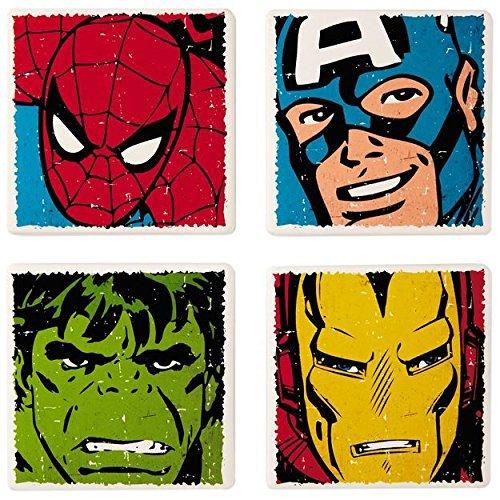 MARVEL Super Heroes Ceramic Coasters (Set of 4)