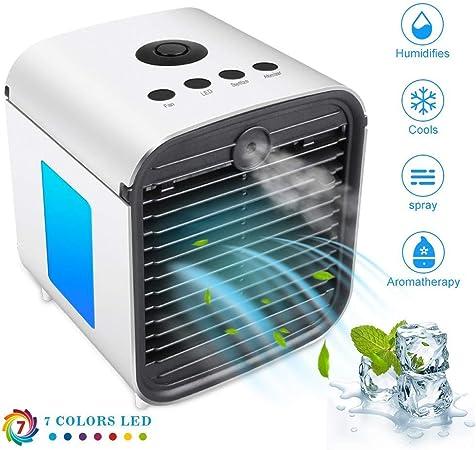 Mini refrigerador de aire,3 en 1 Climatizador Evaporativo para ...