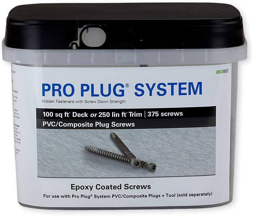 Star Drive #10 x 2-3-4 Pro Plug System Screws -Epoxy 375 Pieces for 100 sq ft of Decking or 250 Lineal Feet of Trim