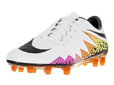 1438d8820ac0 Nike Men s Hypervenom Phatal II Fg White Black Total Orange Volt Soccer  Cleat 8.5