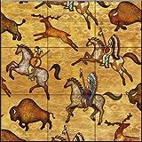 Ceramic Tile Mural - Southwest Horse 7 - by Dan Morris - Kitchen backsplash/Bathroom shower