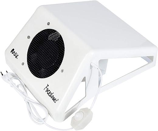 جهاز كهربائي قوي بقوة 65 وات ذو قدرة عالية على شفط الغبار مع مجفف أظافر اليدين الكهربائي للباديكير مع مروحة سرعة قابلة للتعديل وحقيبة غبار (اللون: أبيض)