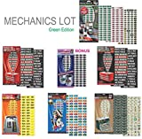 "Steellabels - ""Mechanics Lot"" Plus, for Professional & Home Mechanics. Combo Pack includes Magnetic Toolbox Labels, Presidential Master Set, Circuit Breakers, Tackle ID, Universal Assembly Decals"