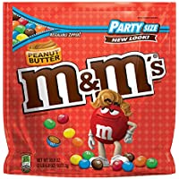 M&MS Peanut Butter Chocolate Candy Party Size 38-Ounce Bag