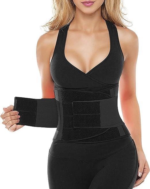 SHAPERX Women Waist Trainer Belt Hourglass Body Shaper Slimming Workout Cincher Weight Loss