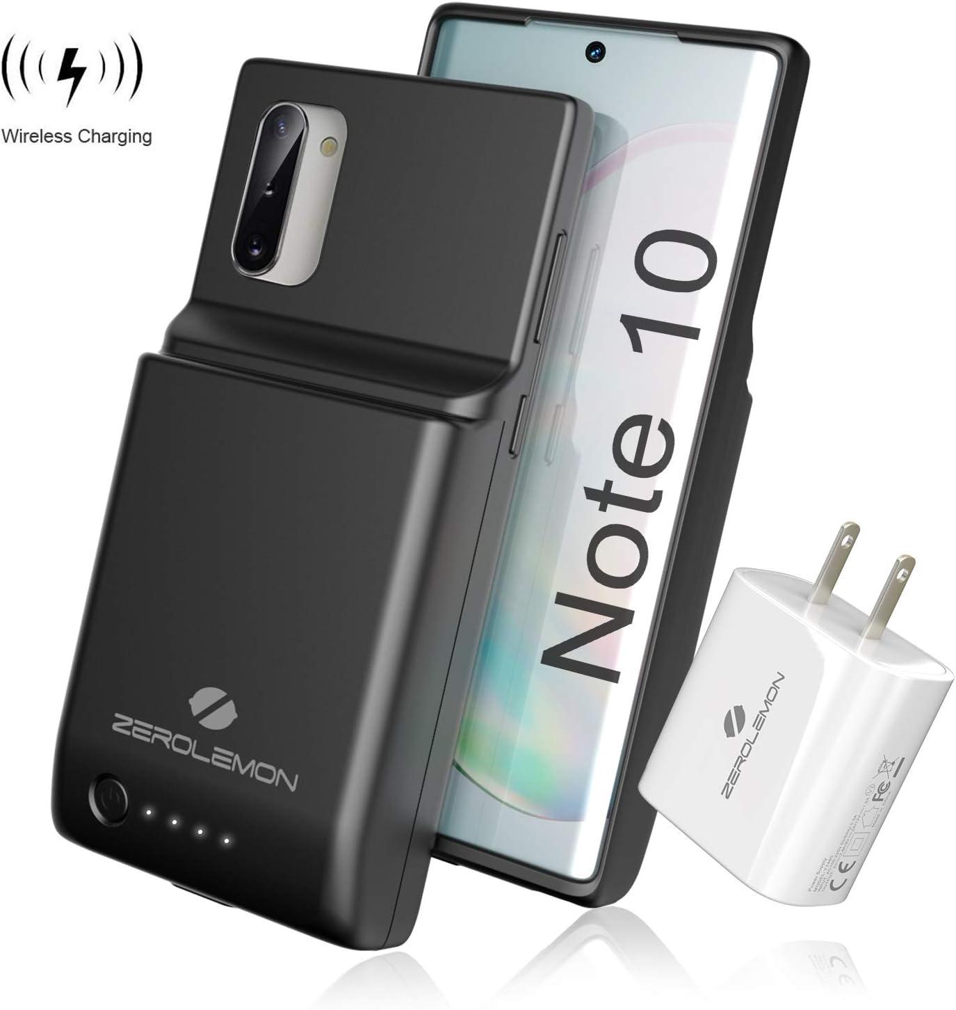 ZEROLEMON Galaxy Note 10 Funda de batería 8600 mAh, Android Auto y Samsung Dex & Qi carga inalámbrica y carga rápida soportada, cargador de batería extendido UltraPower para Galaxy Note 10 negro: