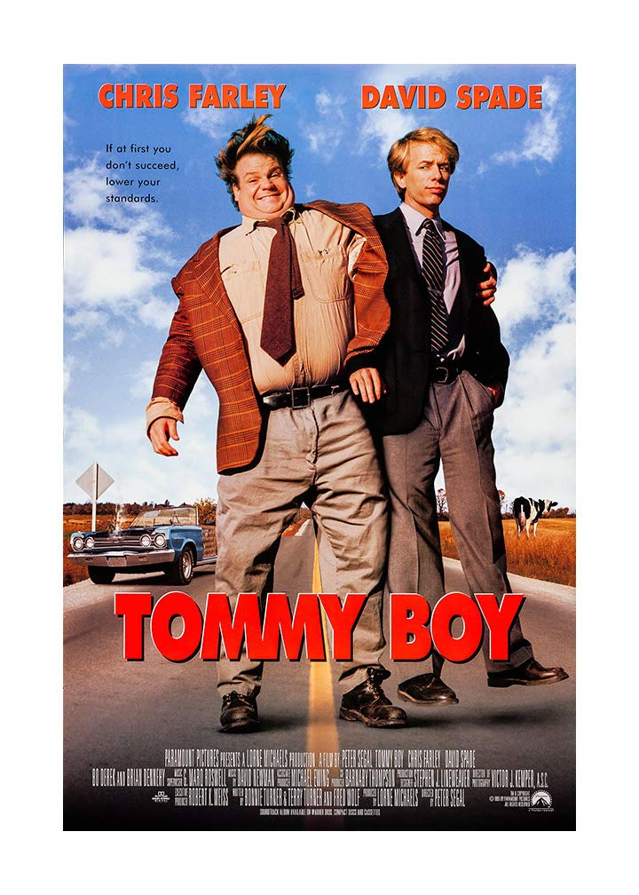 """Tommy Boy Movie Poster - Size 24"""" X 36"""" - This is a Certified Poster Office Print with Holographic Sequential Numbering for Authenticity."""