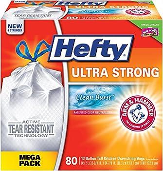 Hefty Kitchen Drawstring 80-Ct. Trash Bags