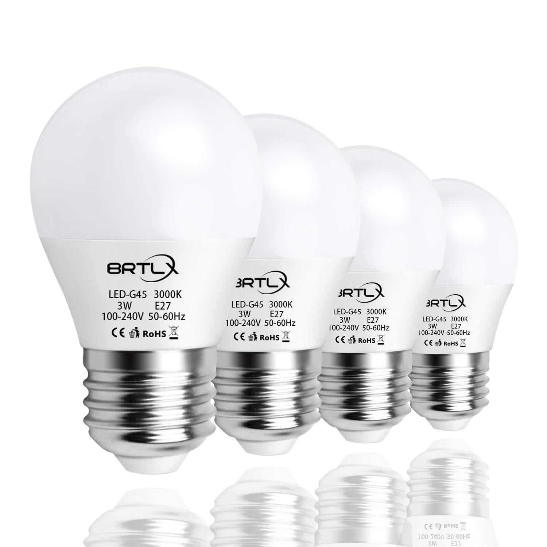 Bombilla LED Esférica E27 3 W, Equivalencia de 25 W, Blanco Cálido ...