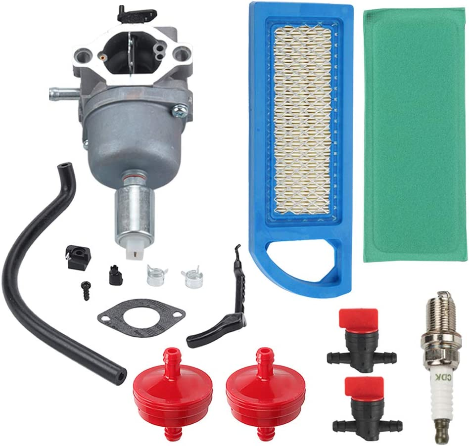 Coolwind 594593 Carburetor + Air Filter + Fuel Filter + Spark Plug Tune Up Kit for 698620 799727 794572 791858 792358 793224 697190 697141 14hp 15hp 16hp 17hp 17.5 HP 18hp Lawn Mower