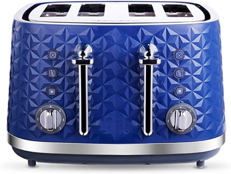 Toasters Toaster 2 Slice Prime Wide Slot Toaster with Bread Shade Settings & Removable Crumb Tray Toastation Oven (Color : Blue, Size : 31.2x30.4x19.7CM)