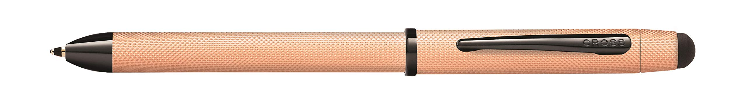 Cross Tech3+ Brushed Rose-Gold PVD Multifunction Pen with Stylus and 0.5mm Lead
