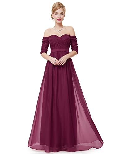 Ever Pretty Off Shoulder Evening Gown with Sweetheart Neckline 08411