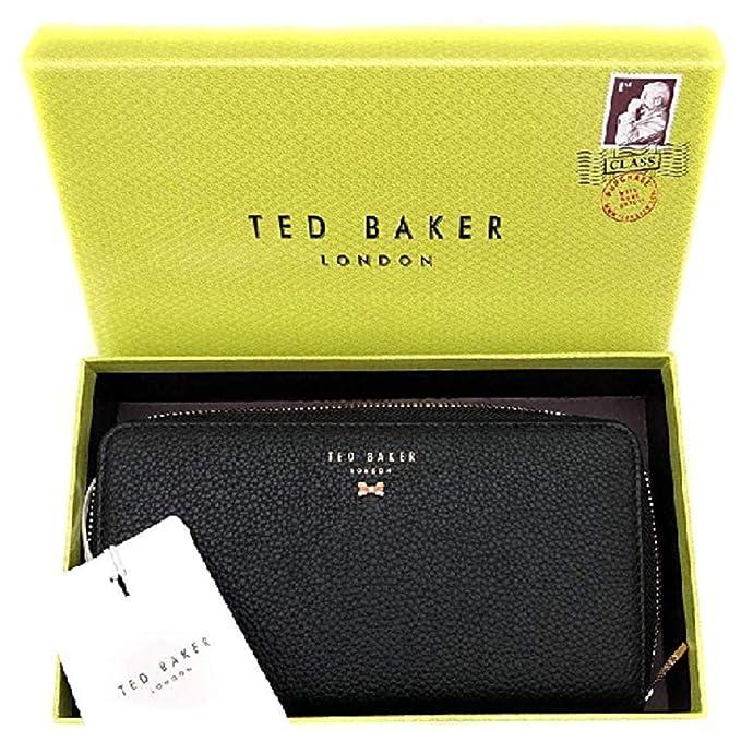Ted Baker Pasy - Monedero con cremallera y lazo (piel ...