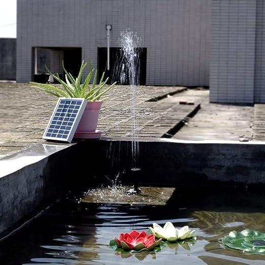 Serui Tipo pequeño Paisaje Piscina Jardín Fuentes 9V 2W Energía Solar Fuente Decorativa Bomba de Agua: Amazon.es: Jardín