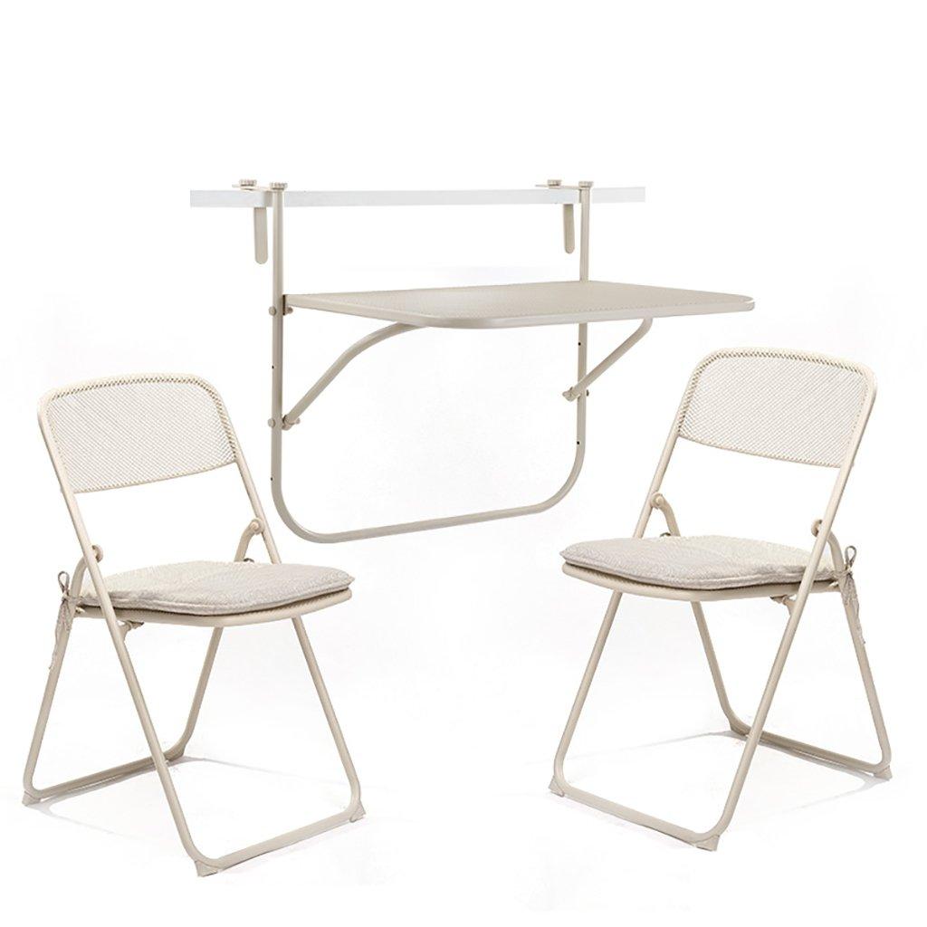 Gartenmöbel Sets Eisen Kunst Drei Sets Von Tischen Und Stühlen / Outdoor  Balkon Klappstühle / Composite Eisen Mesh Falten Tische Und Stühle Tische  Stühle ...