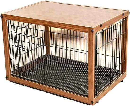 Casetas para perros Los cajones del perro de madera de hierro doble capa interior de la