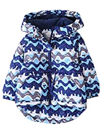 Kedera Toddler/Kids Girls Winter Hooded Fleece Lined Cotton Jacket Coats