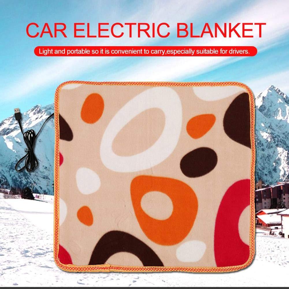 Fast Calefacci/ón El/éctrica del Coj/ín De Calefacci/ón Color Al Azar Manta El/éctrica Autom/ática Manta T/érmica para Camiones O Veh/ículos Recreativos USB Auto Electric Mantas El/éctricas