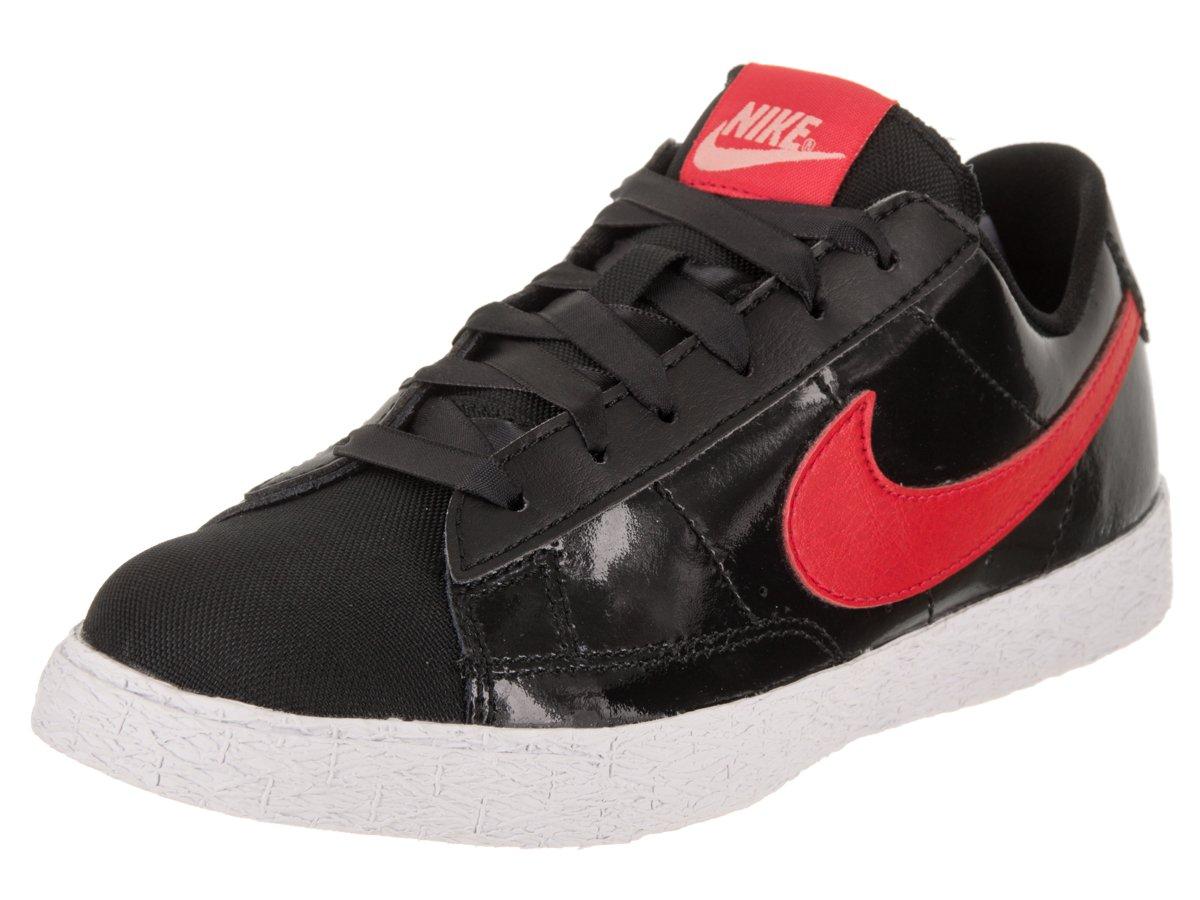 NIKE Kids Blazer Low QS (PS) Black/Speed Red/Bleached Coral Skate Shoe 2 Kids US