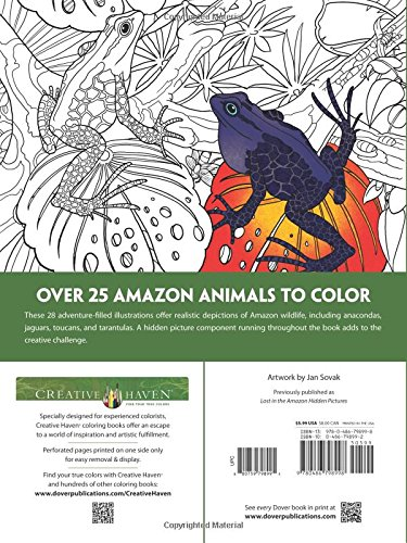 Amazon Creative Haven Animals A Coloring Book With Hidden Picture Twist Adult 9780486798998 Jan Sovak Books