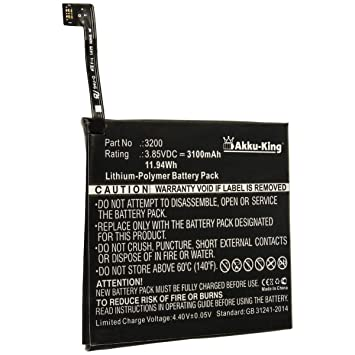 Akku-King Batería para BQ Aquaris X5 Plus - como 3200 ...
