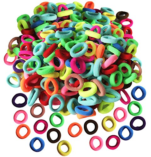 Baby Soft Hair Elastics Ties for Kids Toddlers Colorful Small Seamless Hair Ponytail Holder(200 PCS)