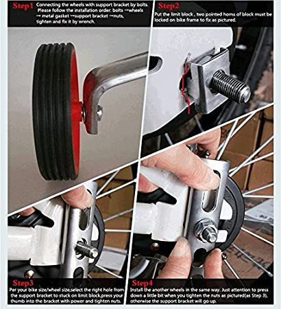 Daozea Professional Bike Stabiliser Wheel Bicycle Training Wheels Replacement for Cycling Starter Kids Childrens Bike Outdoor Sports Accessories 12 14 16 18 20 Inch
