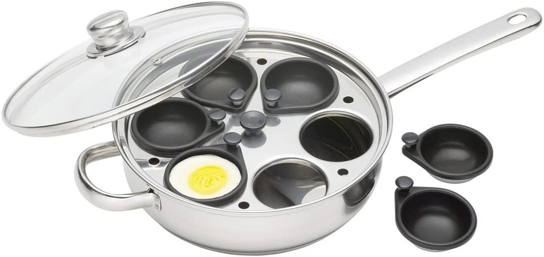 6... 16 Cm Kitchencraft Antiadherente Inducción-Safe 2-Cup HUEVO ESCALFADOR//Saut Pan