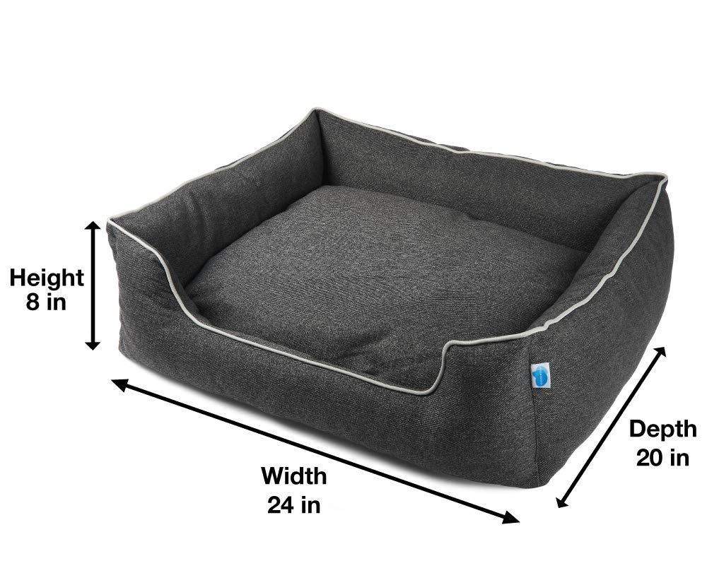 Messy Mutts Studio Bolster Dog Bed