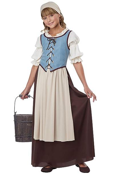 Amazon.com: Disfraz de campesina renacentista de California ...