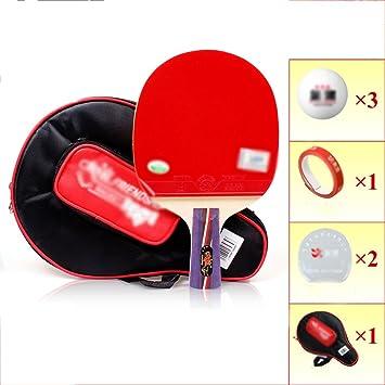Ping pong juego de padel - 1 raquetas 3 bolas profesionales Paquete de tenis de mesa recreativo ...