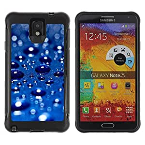 LASTONE PHONE CASE / Suave Silicona Caso Carcasa de Caucho Funda para Samsung Note 3 / Blue Water Drop 3
