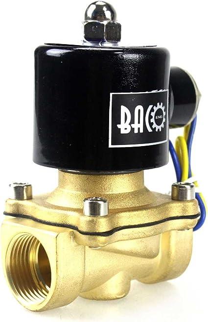 flusso poro 25mm aria e olio leggero elettrovalvola a controllo diretto NC per acqua 0〜10 MPa Elettrovalvola ad alta pressione G3//4 in ottone DC24V tipo pilota