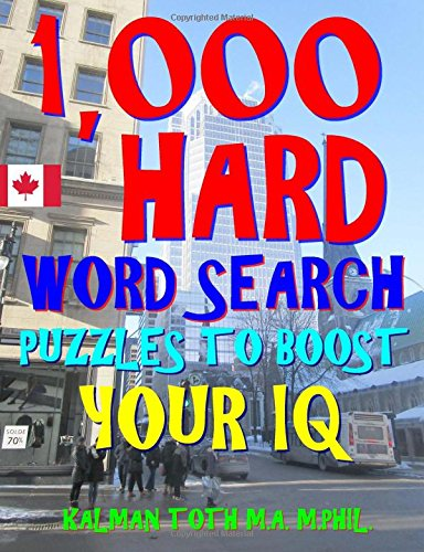 1,000 Hard Word Search Puzzles to Boost Your IQ: Fun Way to Improve Brain & Memory