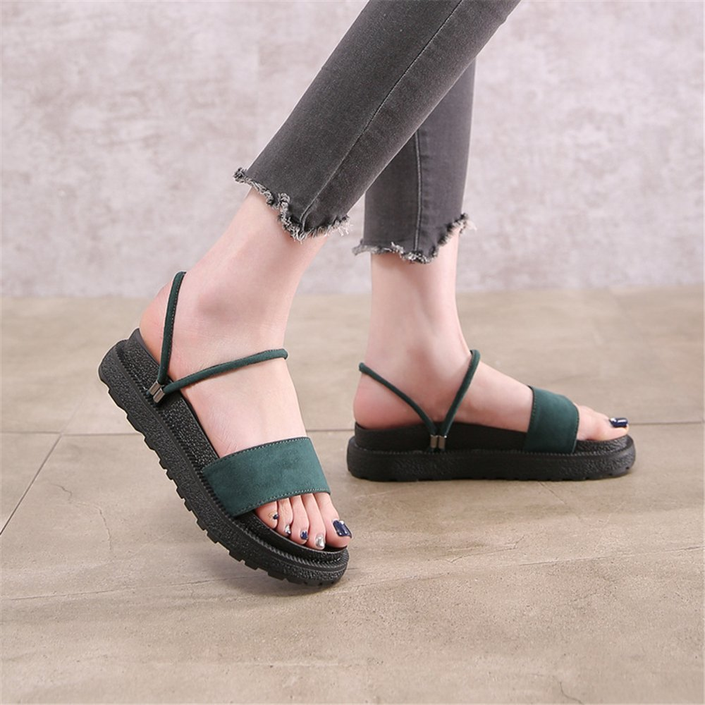 Women Ankle Strap Sandals peep-Toe Platform Slippers Beach Shoes