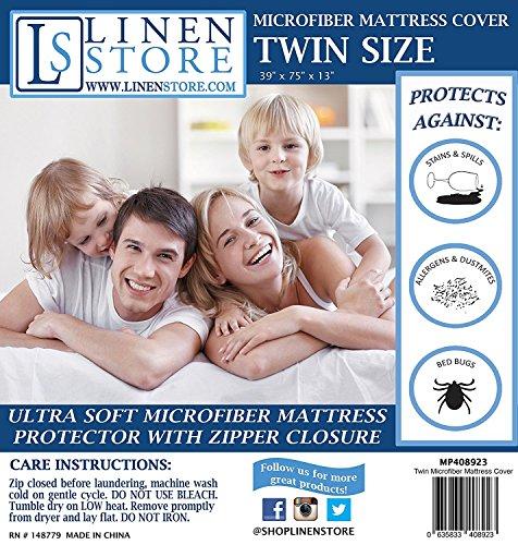 Microfiber Zippered Dustmites Protector Hypoallergenic